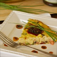 SMOKED SALMON FRITTATA with Red Bell Pepper Ancho Chili Jam by Earth & Vine Provisions. Serve this for breakfast, brunch, lunch or dinner.