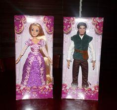 "Brand New! Disney Store 12"" Classic Princess Dolls Rapunzel & Flynn Rider…"