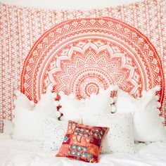 ALL TAPESTRY SALES FINAL  Every Lady Scorpio Mandala Tapestry is designed to create good vibes & positive energy.  A Tapestry is a heavier, decorative tex