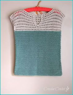 Crochet this beautiful and easy Shore Points top using only two stitches. Made with Cloudborn Pima Cotton Dk yarn from Craftsy.