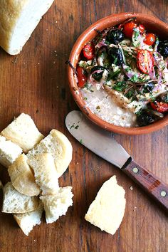 *Baked feta with olives & tomatoes