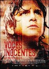 CINE(EDU)-351. Voces inocentes. Dir. Luis Mandoki. México, 2004. Drama. Durante a década dos 80's en O Salvador, as forzas armadas do goberno recrutan nenos de 12 anos para loitar contra a guerrilla. A vida de Chava, un neno de once anos, convértese nun xogo de supervivencia, ao ter que combater contra os rebeldes e soportar os efectos desoladores da violencia diaria... http://kmelot.biblioteca.udc.es/record=b1435949~S1*gag