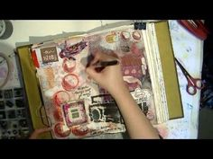 another pinner writes: I always love watching Jennibelle work in her art journal.    Art Journal Page Process - Loves Layers