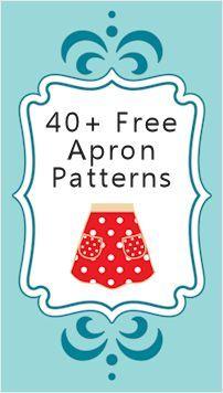 Tutorial: más de cuarenta patrones y tutoriales gratuitos de delantales.