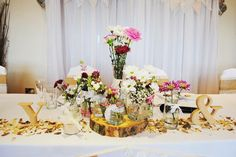 Beautiful flowers for the top table