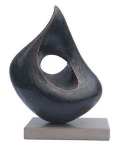 abstract_sculpture_bronze_resin_lynn_warren_just_a_thought