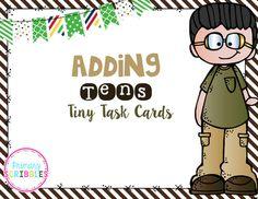 Adding Tens Tiny Task Cards