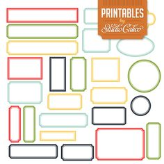Printable Labels from Studio Calico