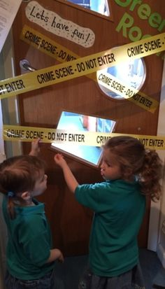 mix things up in your setting! Detective, Abc Does, Reception Class, Reception Ideas, Ks2 Science, Crime, People Who Help Us, Role Play Areas, Eyfs Classroom