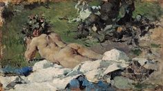 Study of a Nude, 1888 Painting by Ignacio Pinazo Camarlech Reproduction Various Artists, Great Artists, Most Famous Paintings, Oil Painting Reproductions, Art Gallery, Nude, Imagination, Google, Inspiration