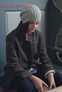 Простая шапка спицами «Tod», от Kim Hargreaves