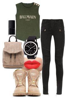 """Balmainia !!!"" by iimsofetch on Polyvore featuring Balmain, NARS Cosmetics, rag & bone, Briston, casual and balmain"