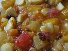 """La Cuisine de Myrtille: Salade de fruits avec """"sauce"""" marmelade d'oranges et miel"""