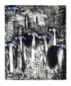 jim dine | Seven White Hammers, 2008, Jim Dine