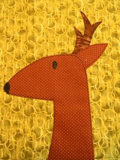 deer for Craftsy class Applique Made Easy - Wendy Gratz