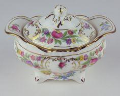 Teapot w Creamer Sugar Bowl Hammersley Dresden Sprays Vintage England Crazing | eBay