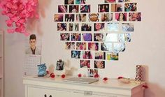 Don't want to spend big bucks on decorating your dorm room? Print photos instead and create your own wall decorations and designs!