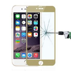 [USD2.67] [EUR2.50] [GBP1.96] Ultrathin 0.3mm 2.5D Colorful Electroplating Anti Blue-ray Tempered Glass Film for iPhone 6 Plus & 6S Plus(Gold)