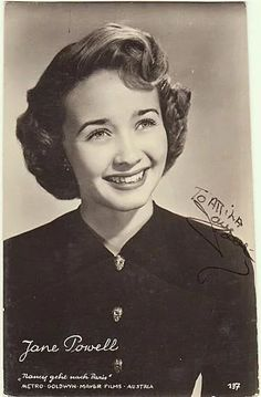 Old Hollywood Actresses, Classic Actresses, Hollywood Actor, Golden Age Of Hollywood, Classic Movies, Hollywood Stars, Classic Hollywood, Hollywood Glamour, Jane Powell