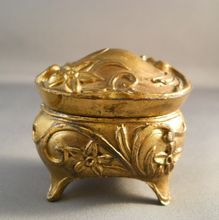 Art Nouveau Gilt Trinket Box from Suzy's Timeless Treasures on Ruby Lane