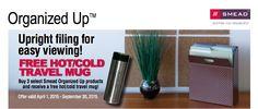 Smead Rebate: FREE Travel Mug #office supplies #work #organization