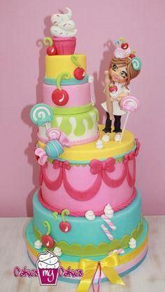 A cake of cakes.  Super cute