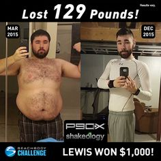Lewis Gwin, age 25, lost 129 lbs. in three rounds of P90X. He entered his results into the Beachbody Challenge and won $1,000! Tell us about your life befo
