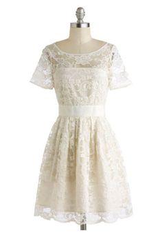 Modcloth Adrift on a Cloud Dress in Ivory Casual Short Plus Size Wedding Dress #plussizeweddingdresses #plussizeweddinggowns #plussizebridal #weddingdresses #plussize #bridal #wedding #plussizewedding #plussizebride #plussizebrides #plussizeweddingdress #plussizeweddinggown