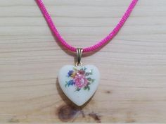 Vintage ROSE HEART Necklace For Girls by TheVintageCinderella