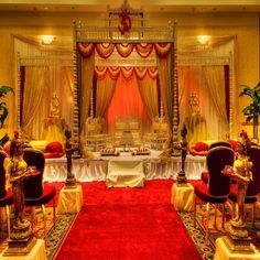 "The Indian Mandap is a culture ""must have"" for #Indianweddingvenues. At West Belmont Place, we have a large ballroom and outdoor options that can hold this large structure."