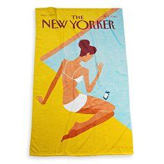 BED, BATH AND BEYOND, 22€  Για τους φανατικούς των περιοδικών βρήκαμε και μια πετσέτα που απεικονίζει το εξώφυλλο του ιστορικού περιοδικού Ney Yorker.