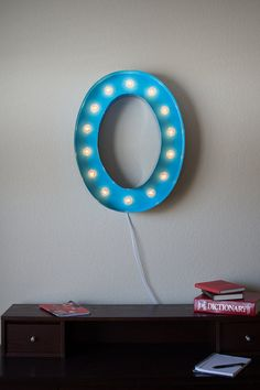 Vintage Inspired Marquee Light Letter O by SaddleShoeSigns on Etsy