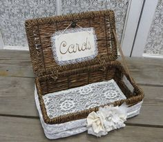 Lacey Basket Card Holder by Thequirkycorncrib on Etsy, $52.00