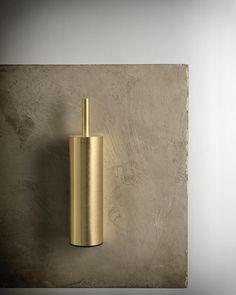 Xenon wall mounted toilet brush in the finish urban brass Window Furniture, Bathroom Furniture, Bathroom Trends, Modern Bathroom, Bathroom Ideas, Bathroom Suppliers, Shower Units, Wall Mounted Toilet, Custom Kitchens