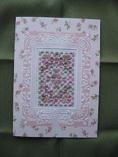 Beautiful card with hardanger