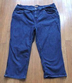 St.John's Bay Women Blue Jean Capri Size 18W #StJohnsBay #Relaxed