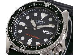SEIKO Diver SKX007K1 Rubber Automatic Diver Watch Orologio Automatico 200m
