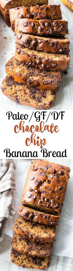 Paleo Chocolate Chip Banana Bread with Almond Butter #justeatrealfood #paleorunningmomma