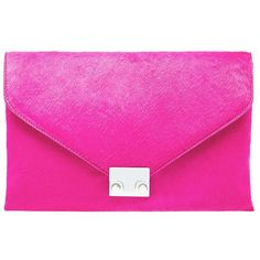 LOEFFLER RANDALL Azalea Locl Clutch Bag (1.240 BRL) ❤ liked on Polyvore featuring bags, handbags, clutches, azalea, leather clutches, pink leather handbags, special occasion clutches, locking purse and genuine leather purse