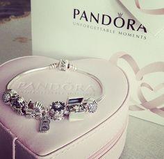 Cute pandora bracelet Pandora Bracelets, Pandora Jewelry, Pandora Charms, Pandoras Box, Rings, Bangle Bracelets, Accessories