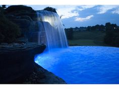 Concrete pool and waterfalls world class pools of for Pool design mcmurray pa