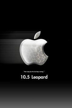 iPhone Wallpaper Leopard Apple Logo