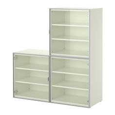 "Besta Storage from Ikea for $275.  Might be a better figurine display case than their $140 Besta Storage, since it doesn't have ""frames"" to block view of the contents."