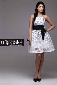 MM dress in checkered pattern
