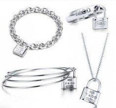 Tiffany  Co 1837 Lock Four Pieces Set