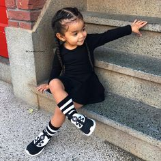 Fashion Kids, Little Girl Fashion, Toddler Fashion, Cute Little Girls Outfits, Cute Little Baby, Cute Mixed Babies, Cute Babies, Black Baby Girls, Baby Swag