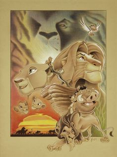Disney – The Lion King – Circle of Life – Ben Curtis Jones The Lion King, Lion King Fan Art, Lion King Movie, Disney Lion King, Arte Disney, Disney Love, Disney Stuff, Lion King Drawings, Lion King Pictures
