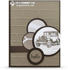 "CARD: Guy Greetings Classic Car – Perfect ""Man Card"" 