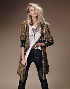 Candice Swanepoel is Western Chic for Free Peoples July Catalogue