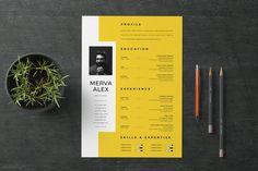 30 Unique Resume CV Templates With Interesting (Creative) Resume Ideas 2020 Resume Design Template, Creative Resume Templates, Cv Template, Portfolio Web, Portfolio Resume, Portfolio Examples, Web Design, Layout Design, Creative Resume Design